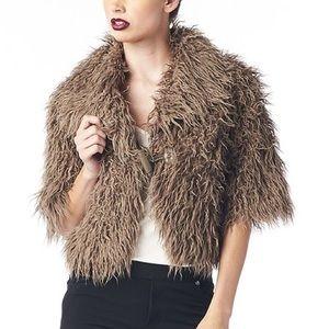 NWT Faux fur crop jacket